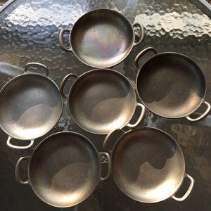 wilton armatale Kitchen - Set of six pewter ramekins